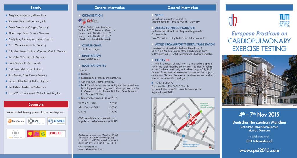 Flyer for Munich practicum